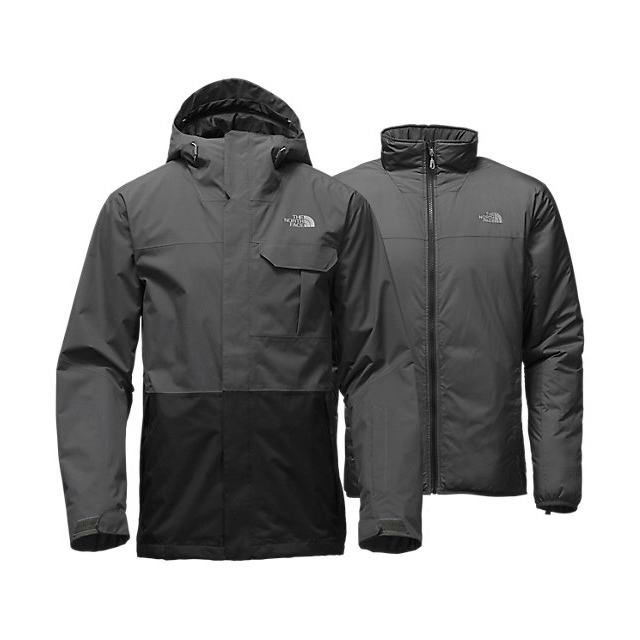 Discount NORTH FACE MEN\'S GARNER TRICLIMATE  JACKET ASPHALT GREY / BLACK ONLINE