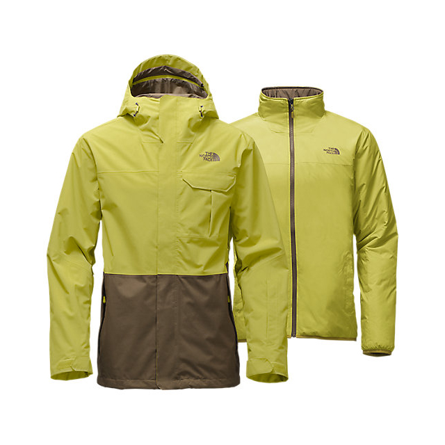 Discount NORTH FACE MEN'S GARNER TRICLIMATE  JACKET LEMONGRASS GREEN/CAPER BERRY GREEN ONLINE