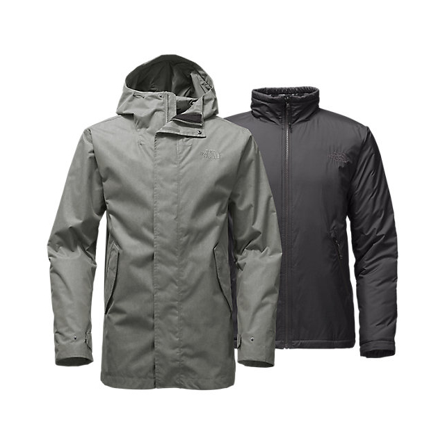 Discount NORTH FACE MEN\'S ELMHURST TRICLIMATE  JACKET FUSEBOX GREY ONLINE