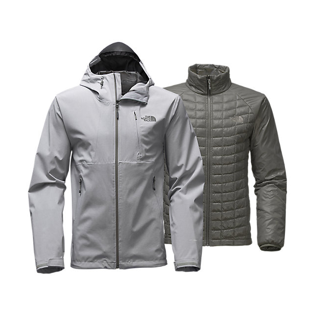 Discount NORTH FACE MEN\'S THERMOBALL  TRICLIMATE  JACKET LIGHT GREY HEATHER ONLINE
