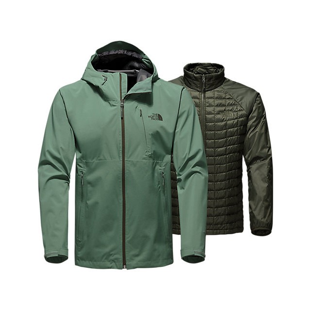 Discount NORTH FACE MEN'S THERMOBALL  TRICLIMATE  JACKET DUCK GREEN ONLINE