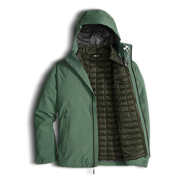 Discount NORTH FACE MEN\'S THERMOBALL  TRICLIMATE  JACKET DUCK GREEN ONLINE
