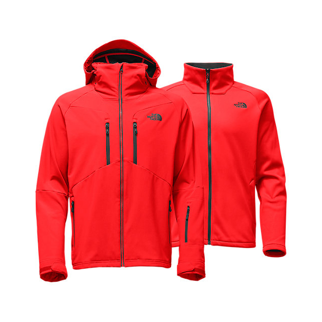 Discount NORTH FACE MEN'S APEX STORM PEAK TRICLIMATE JACKET FIERY RED ONLINE