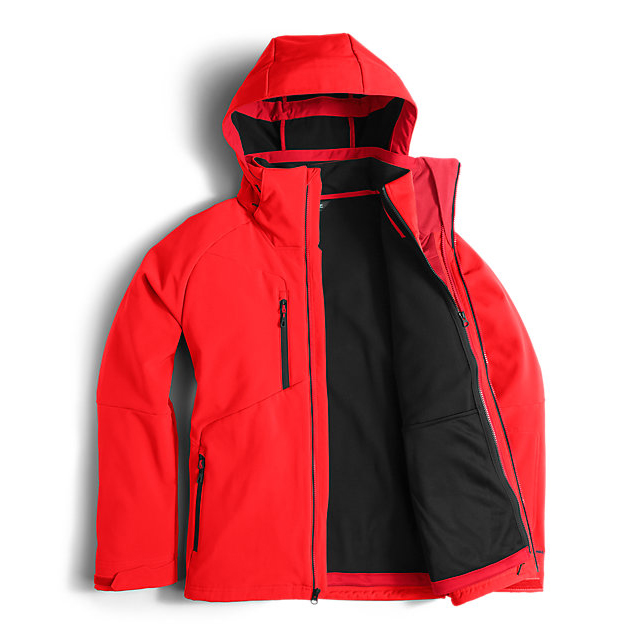 Discount NORTH FACE MEN\'S APEX STORM PEAK TRICLIMATE JACKET FIERY RED ONLINE