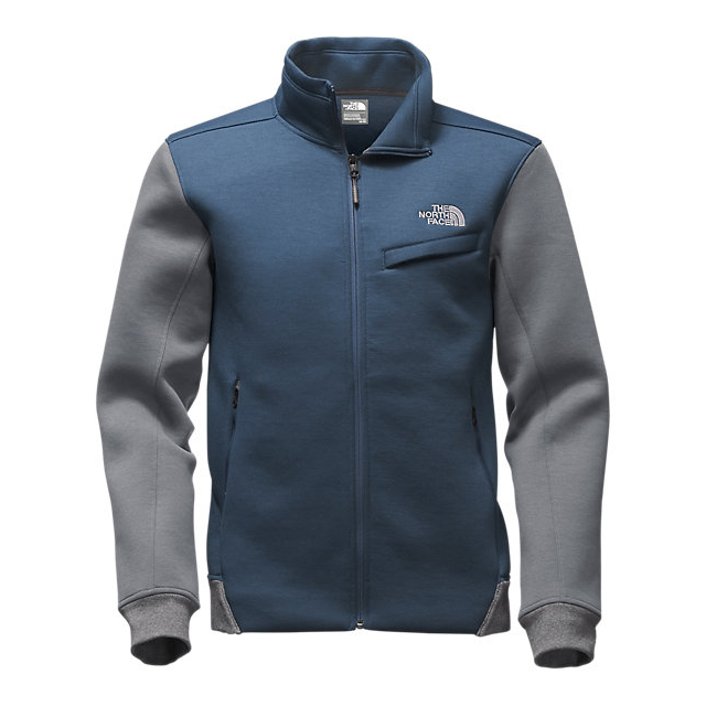 Discount NORTH FACE MEN\'S THERMAL 3D JACKET SHADY BLUE BLACK HEATHER/MEDIUM GREY HEATHER ONLINE