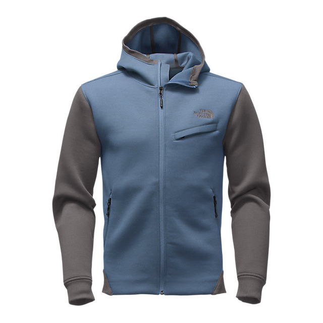 Discount NORTH FACE MEN'S THERMAL 3D FULL ZIP HOODIE SHADY BLUE BLACK HEATHER ONLINE