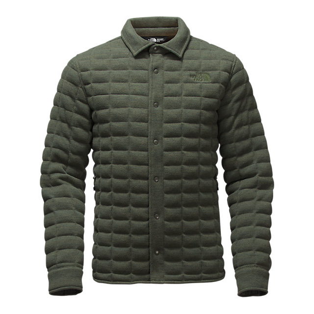 Discount NORTH FACE MEN'S KINGSTON THERMOBALL SHACKET CLIMBING IVY GREEN HEATHER ONLINE