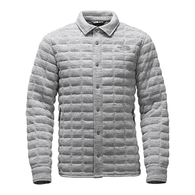 Discount NORTH FACE MEN'S KINGSTON THERMOBALL SHACKET LIGHT GREY HEATHER ONLINE