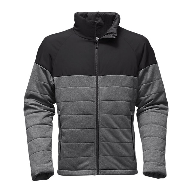 Discount NORTH FACE MEN\'S SKOKIE INSULATED FULL ZIP MEDIUM GREY HEATHER/BLACK ONLINE