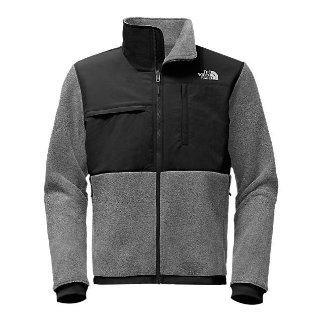 Discount NORTH FACE MEN'S DENALI 2 JACKET CHARCOAL GREY HEATHER / TNFBLK ONLINE