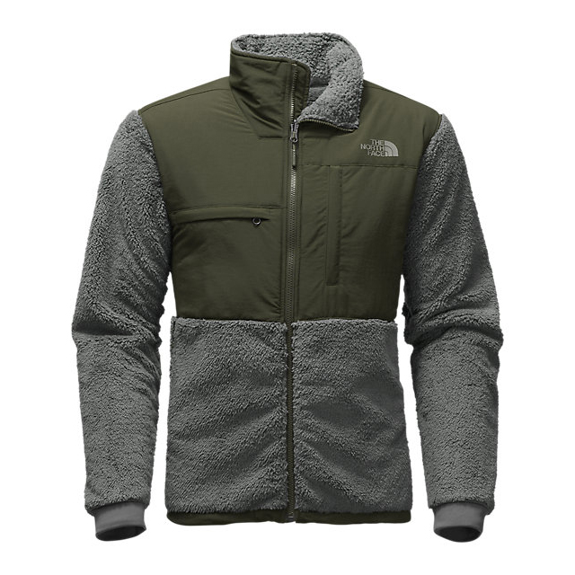 Discount NORTH FACE MEN'S NOVELTY DENALI JACKET FUSEBOX GREY SHERPA/ROSIN GREEN ONLINE