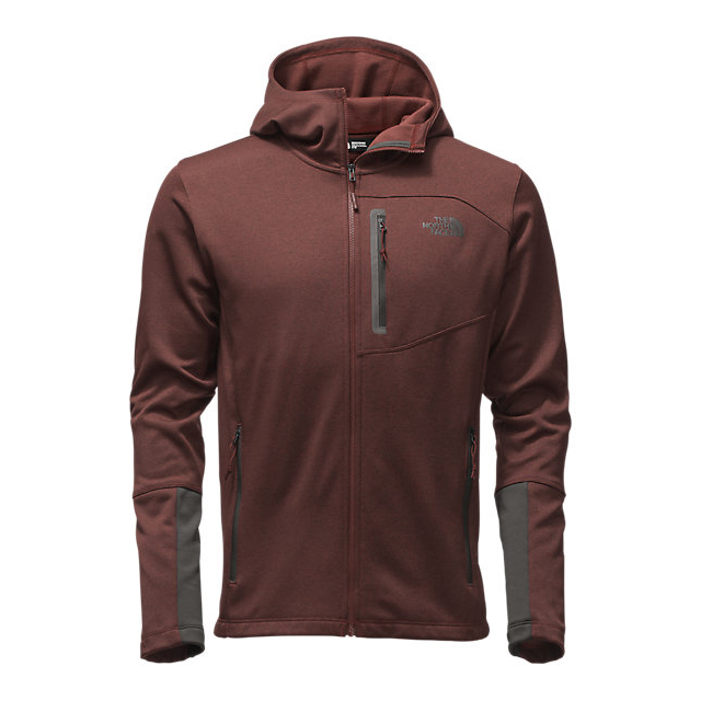 Discount NORTH FACE MEN'S CANYONLANDS HOODIE SEQUOIA RED HEATHER/ASPHALT GREY ONLINE