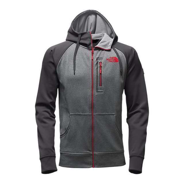 Discount NORTH FACE MEN'S MACK MAYS FULL ZIP HOODIE MEDIUM GREY HEATHER (STD)/ASPHALT GREY ONLINE