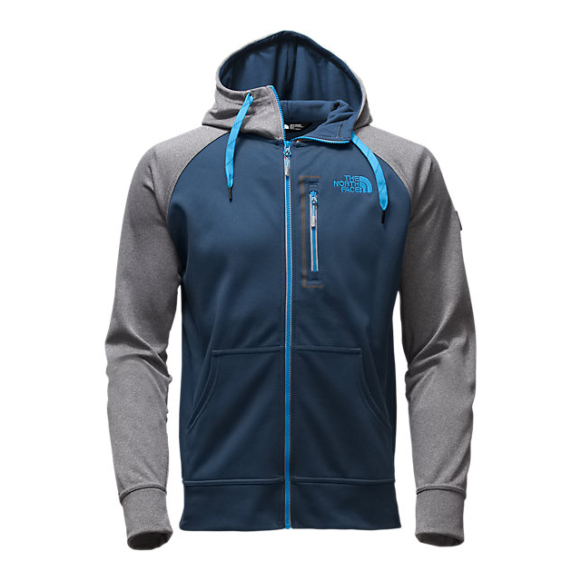 Discount NORTH FACE MEN'S MACK MAYS FULL ZIP HOODIE SHADY BLUE/MEDIUM GREY HEATHER (STD) ONLINE
