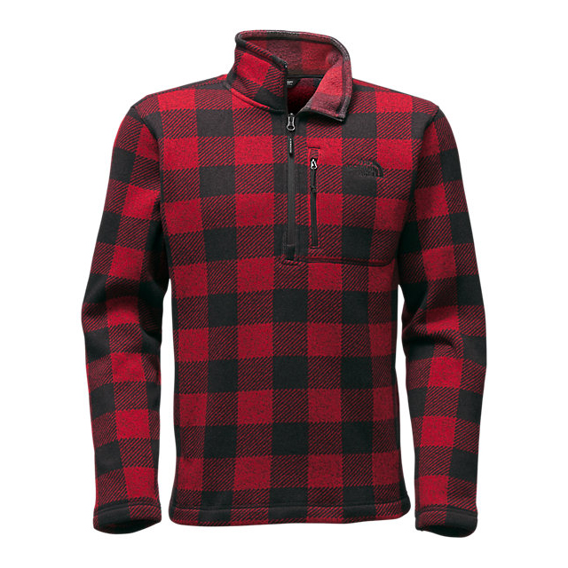Discount NORTH FACE MEN'S NOVELTY GORDON LYONS ¼ ZIP CARDINAL RED GRIZZLY PRINT ONLINE