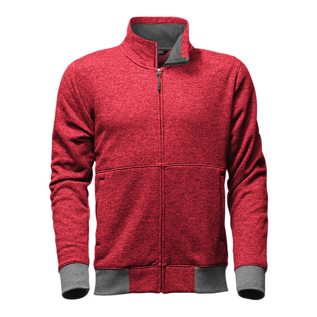 Discount NORTH FACE MEN\'S TECH SHERPA JACKET BIKING RED DARK HEATHER ONLINE