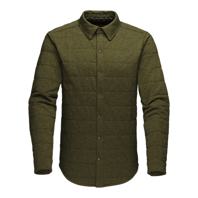 Discount NORTH FACE MEN'S LONG-SLEEVE SEND IT SHACKET ROSIN GREEN ONLINE