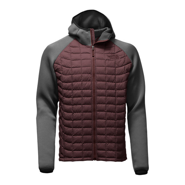 Discount NORTH FACE MEN'S UPHOLDER THERMOBALL HYBRID JACKET SEQUOIA RED STRIA/DARK GREY HEATHER ONLINE