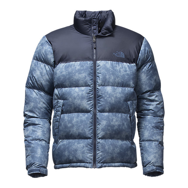 Discount NORTH FACE MEN\'S NUPTSE JACKET SHADY BLUE PROCESS PRINT/URBAN NAVY ONLINE