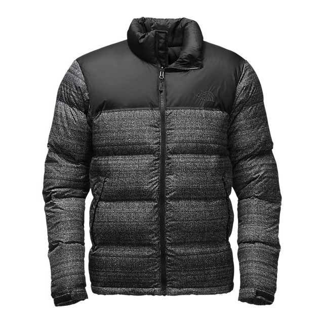 Discount NORTH FACE MEN\'S NUPTSE JACKET BLACK TWITCH PRINT/BLACK ONLINE