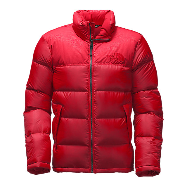 Discount NORTH FACE MEN'S NUPTSE SPECIAL EDITION JACKET RED/RED CROC EMBOSS ONLINE