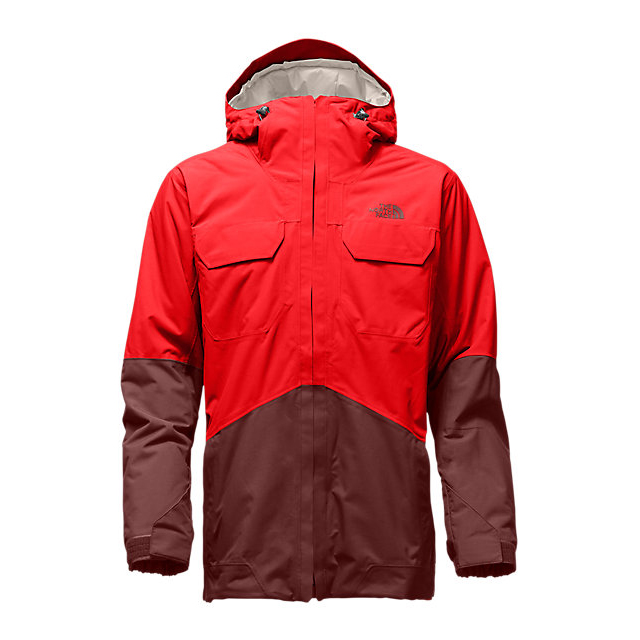 Discount NORTH FACE MEN'S BROGODA INSULATED JACKET FIERY RED/HOT CHOCOLATE BROWN ONLINE