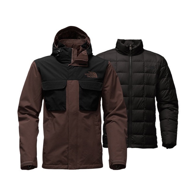 Discount NORTH FACE MEN'S HAUSER TRICLIMATE JACKET COFFEE BEAN BROWN/BLACK ONLINE