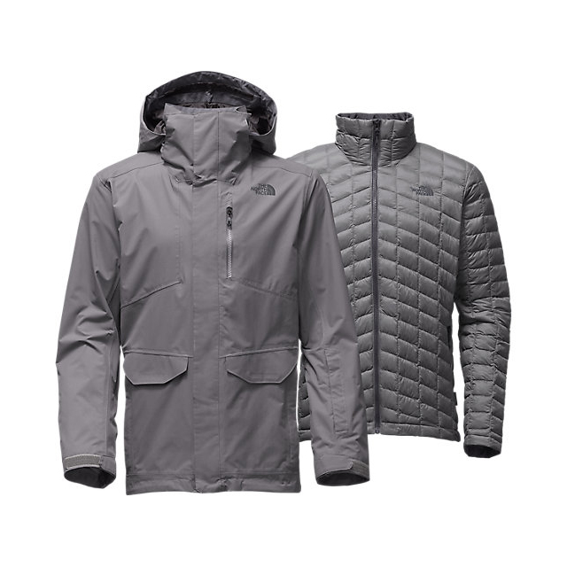 Discount NORTH FACE MEN'S THERMOBALL SNOW TRICLIMATE PARKA ZINC GREY ONLINE
