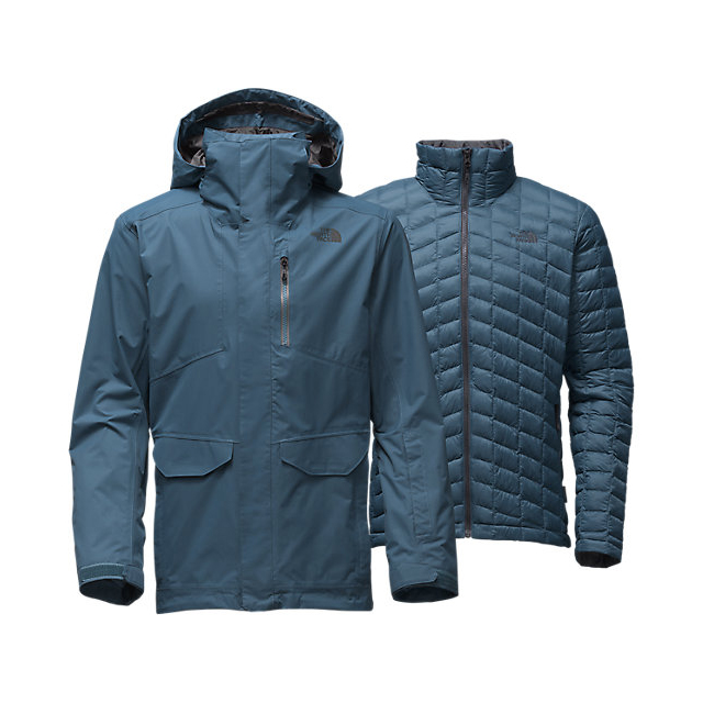 Discount NORTH FACE MEN'S THERMOBALL SNOW TRICLIMATE PARKA DIESEL BLUE ONLINE