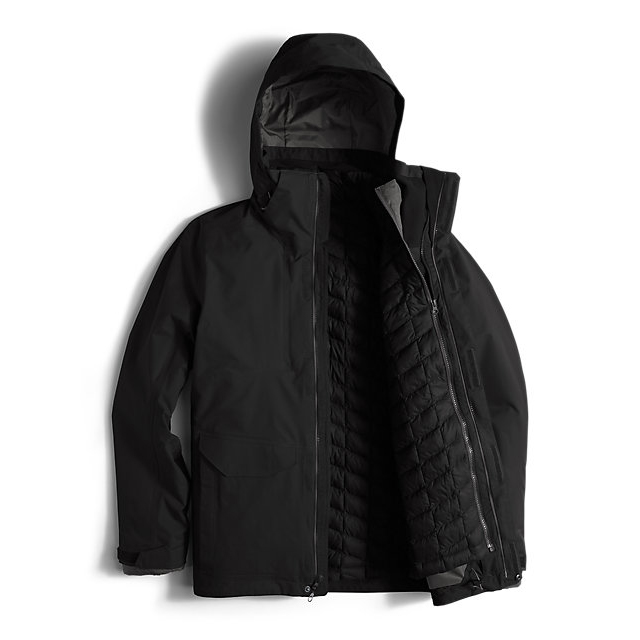 Discount NORTH FACE MEN\'S THERMOBALL SNOW TRICLIMATE PARKA BLACK ONLINE