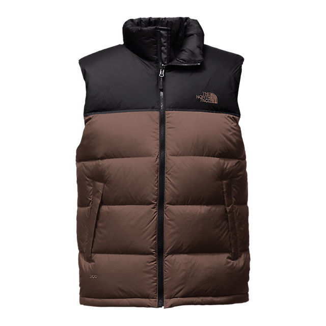 Discount NORTH FACE MEN\'S NUPTSE VEST COFFEE BEAN BROWN/BLACK ONLINE
