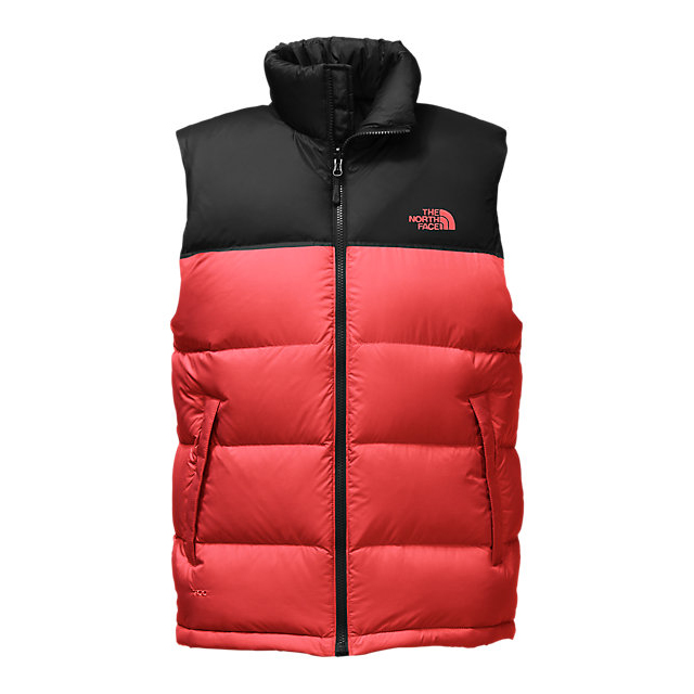 Discount NORTH FACE MEN'S NUPTSE VEST CARDINAL RED/BLACK ONLINE