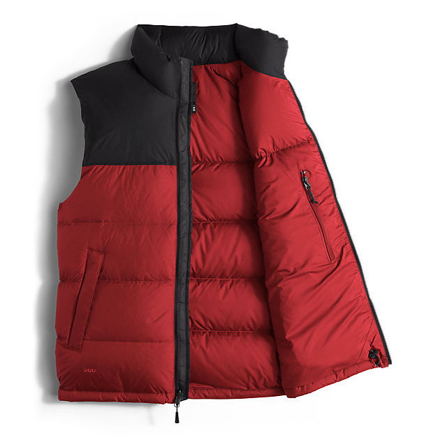 Discount NORTH FACE MEN\'S NUPTSE VEST CARDINAL RED/BLACK ONLINE