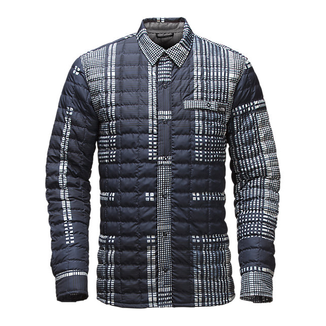 Discount NORTH FACE MEN'S REYES THERMOBALL SHIRT JACKET URBAN NAVY UPSCALE PLAID PRINT ONLINE