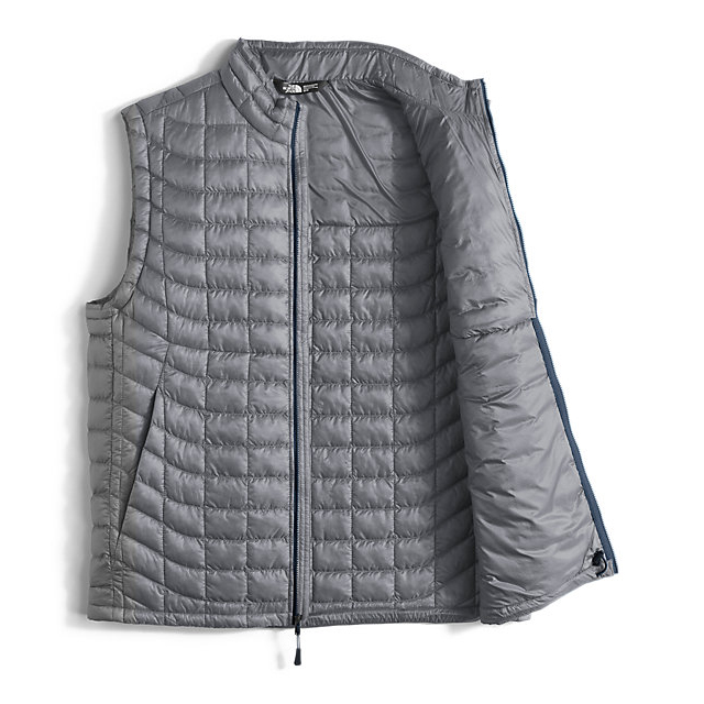 Discount NORTH FACE MEN\'S THERMOBALL VEST MID GREY/URBAN NAVY ONLINE