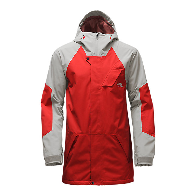 Discount NORTH FACE MEN'S ACHILLES JACKET FIERY RED/DOVE GREY ONLINE