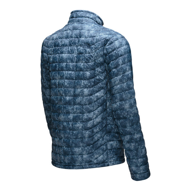 Discount NORTH FACE MEN\'S THERMOBALL FULL ZIP JACKET SHADY BLUE PROCESS PRINT ONLINE