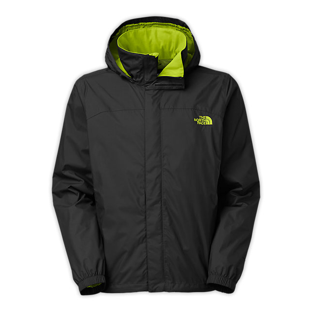 Discount NORTH FACE MEN\'S RESOLVE JACKET BLACK/MACAW GREEN ONLINE