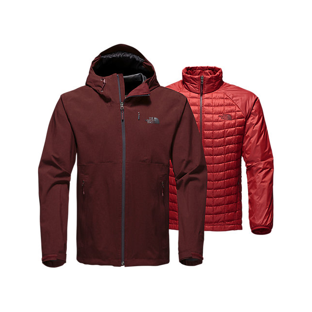 Discount NORTH FACE MEN\'S THERMOBALL TRICLIMATE JACKET SEQUOIA RED HEATHER ONLINE