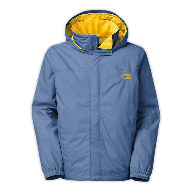 Discount NORTH FACE MEN'S RESOLVE JACKET MOONLIGHT BLUE/FREESIA YELLOW ONLINE