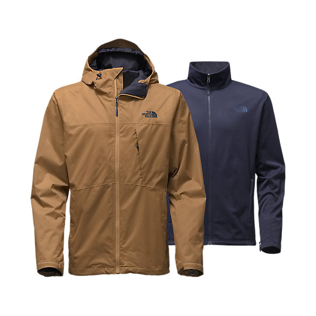 Discount NORTH FACE MEN'S ARROWOOD TRICLIMATE JACKET DIJON BROWN ONLINE