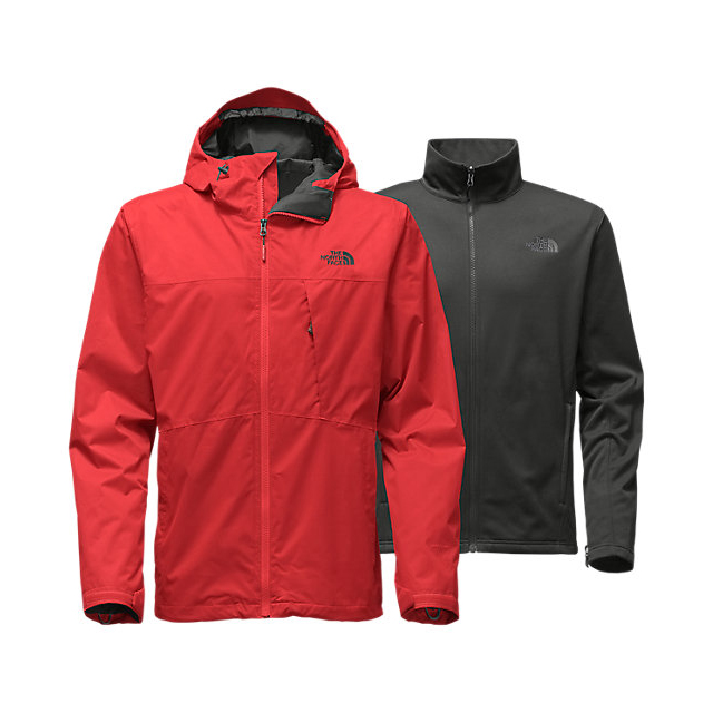 Discount NORTH FACE MEN\'S ARROWOOD TRICLIMATE JACKET CARDINAL RED ONLINE