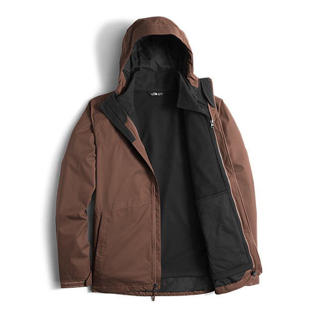Discount NORTH FACE MEN\'S ARROWOOD TRICLIMATE JACKET COFFEE BEAN BROWN ONLINE
