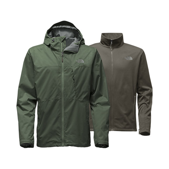 Discount NORTH FACE MEN'S ARROWOOD TRICLIMATE JACKET CLIMBING IVY GREEN ONLINE