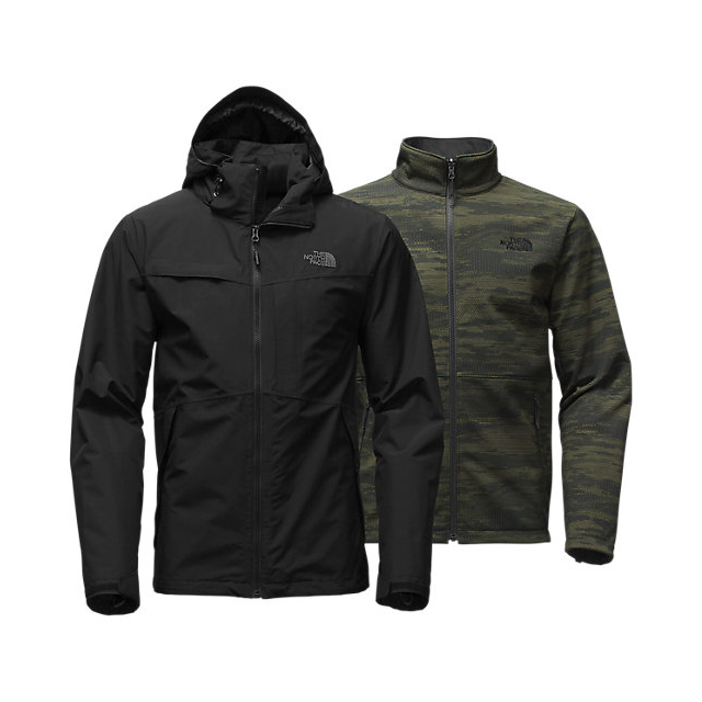 Discount NORTH FACE MEN'S CONDOR TRICLIMATE JACKET BLACK/BLACK/ROSIN GREEN GLAMO PRINT ONLINE