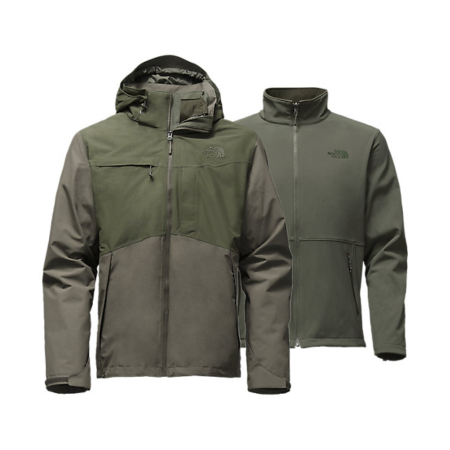 Discount NORTH FACE MEN\'S CONDOR TRICLIMATE JACKET CLIMBING IVY GREEN HEATHER/ROSIN GREEN HEATHER ONLINE