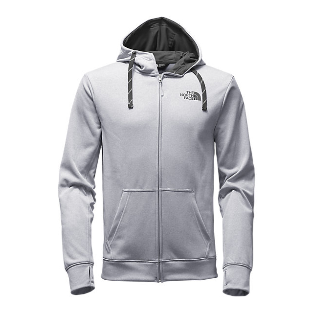 Discount NORTH FACE MEN'S SURGENT LFC FULL ZIP HOODIE LIGHT GREY HEATHER (STD)/ASPHALT GREY ONLINE
