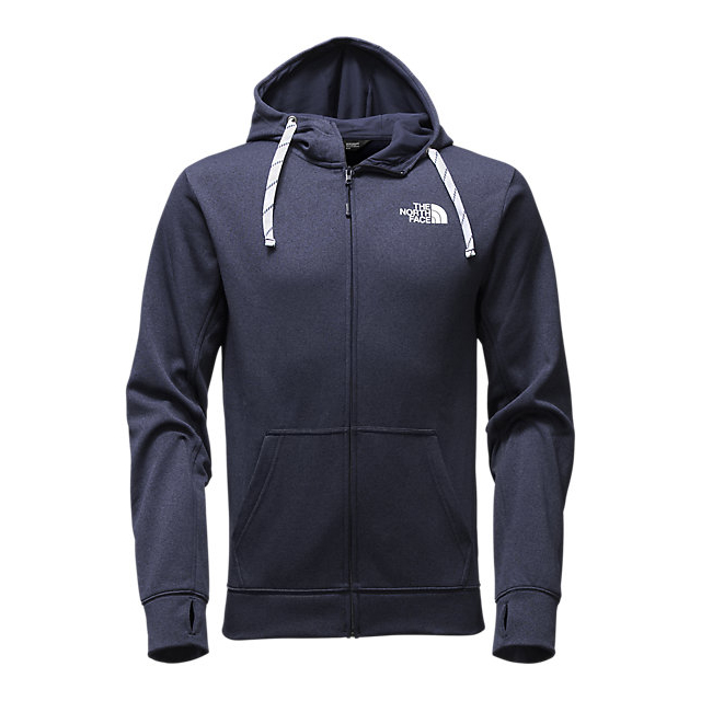 Discount NORTH FACE MEN'S SURGENT LFC FULL ZIP HOODIE COSMIC BLUE LIGHT HEATHER (STD)/WHITE ONLINE