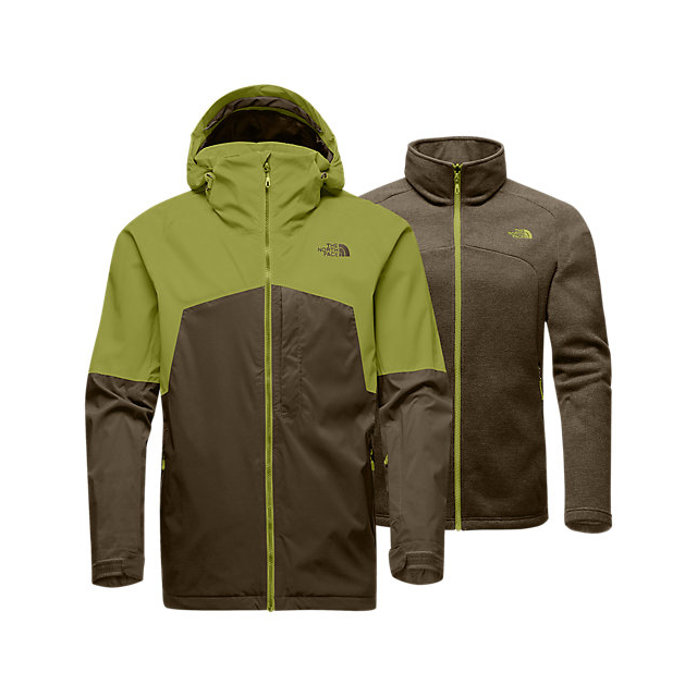 Discount NORTH FACE MEN'S GAMBIT TRICLIMATE JACKET LEMONGRASS GREEN/CAPER BERRY GREEN ONLINE