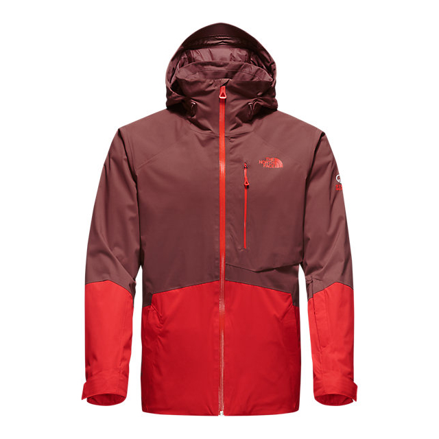 Discount NORTH FACE MEN\'S SICKLINE INSULATED JACKET HOT CHOCOLATE BROWN-FIERY RED ONLINE